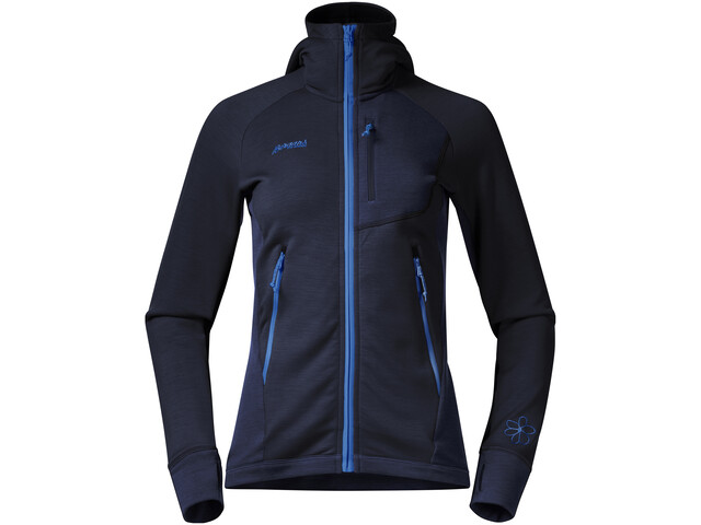 Bergans Cecilie Wool Jacket Women navy/cloud blue